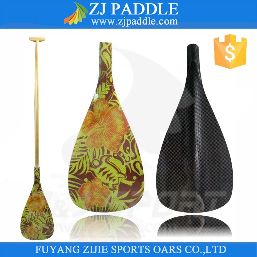 New Graphics Hybird Outrigger Canoe Paddle Waka Paddles(China (Mainland))