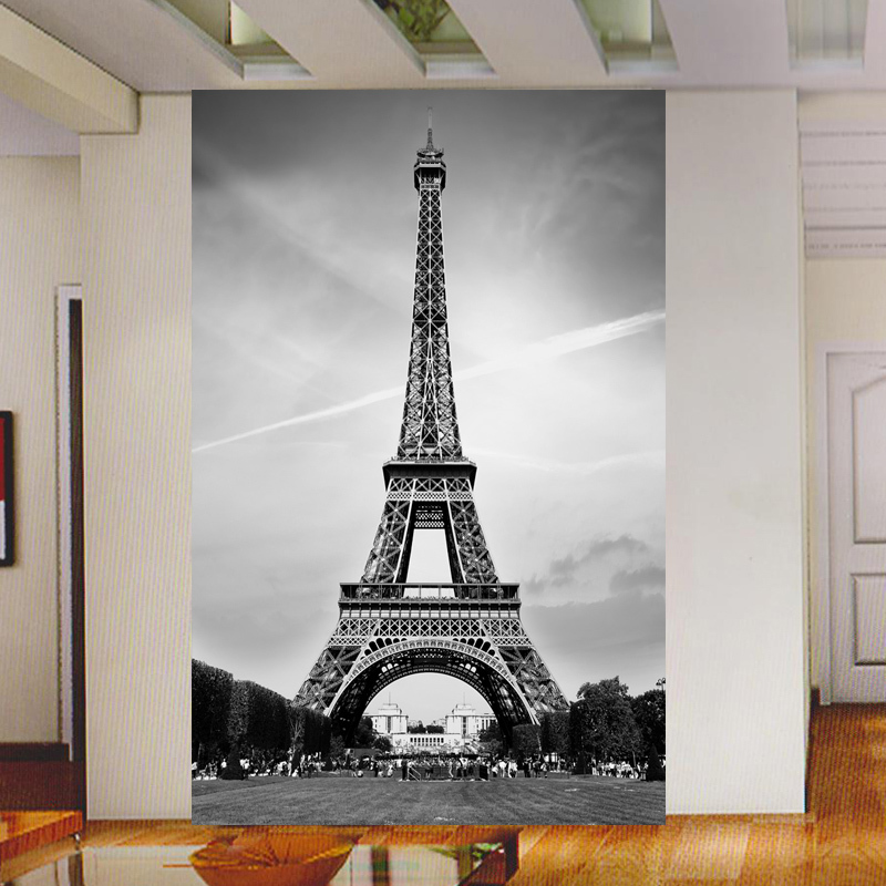 Free shipping tv backdrop wallpaper murals minimalist for Eiffel tower mural wallpaper