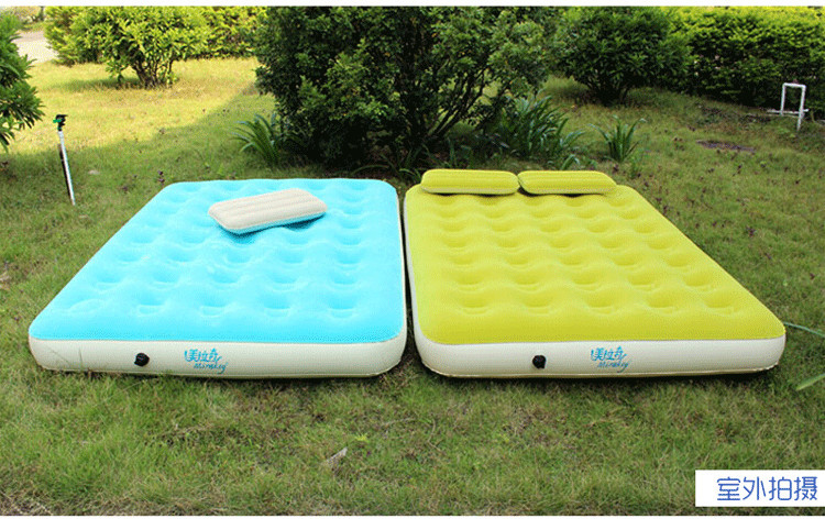 Free Shipping outdoor cellular air bed single and double thicken inflatable air mattress(China (Mainland))