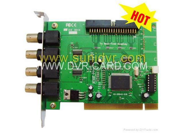SDR High quality wireless DVR 4 CH DVR Card Channels CCTV System Security PCI Video Capture(China (Mainland))