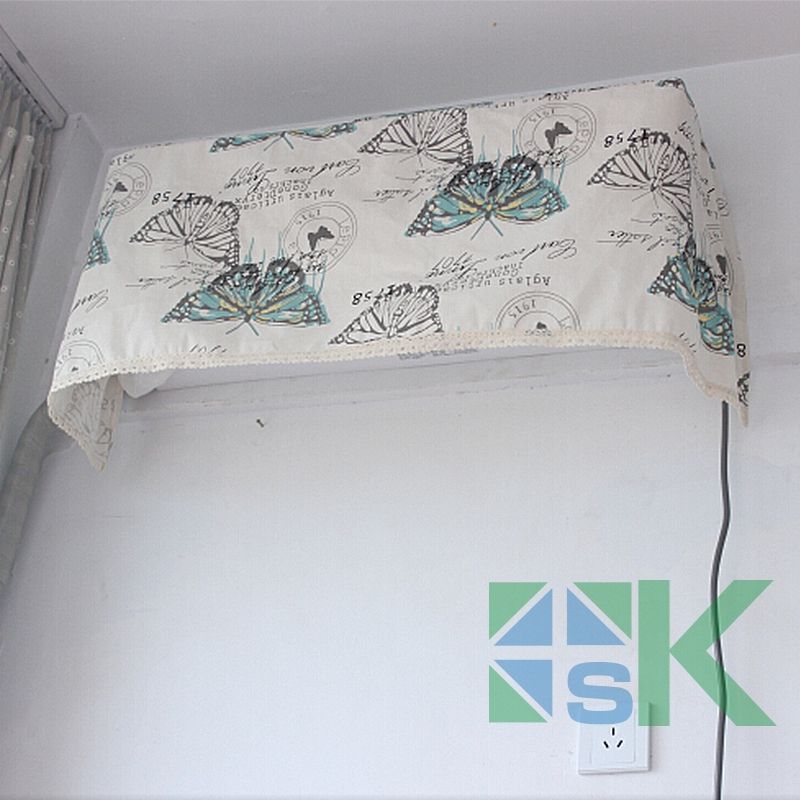 Air conditioning dust cover wall hanging hook with elastic all-inclusive air conditioner cover air conditioning units(China (Mainland))