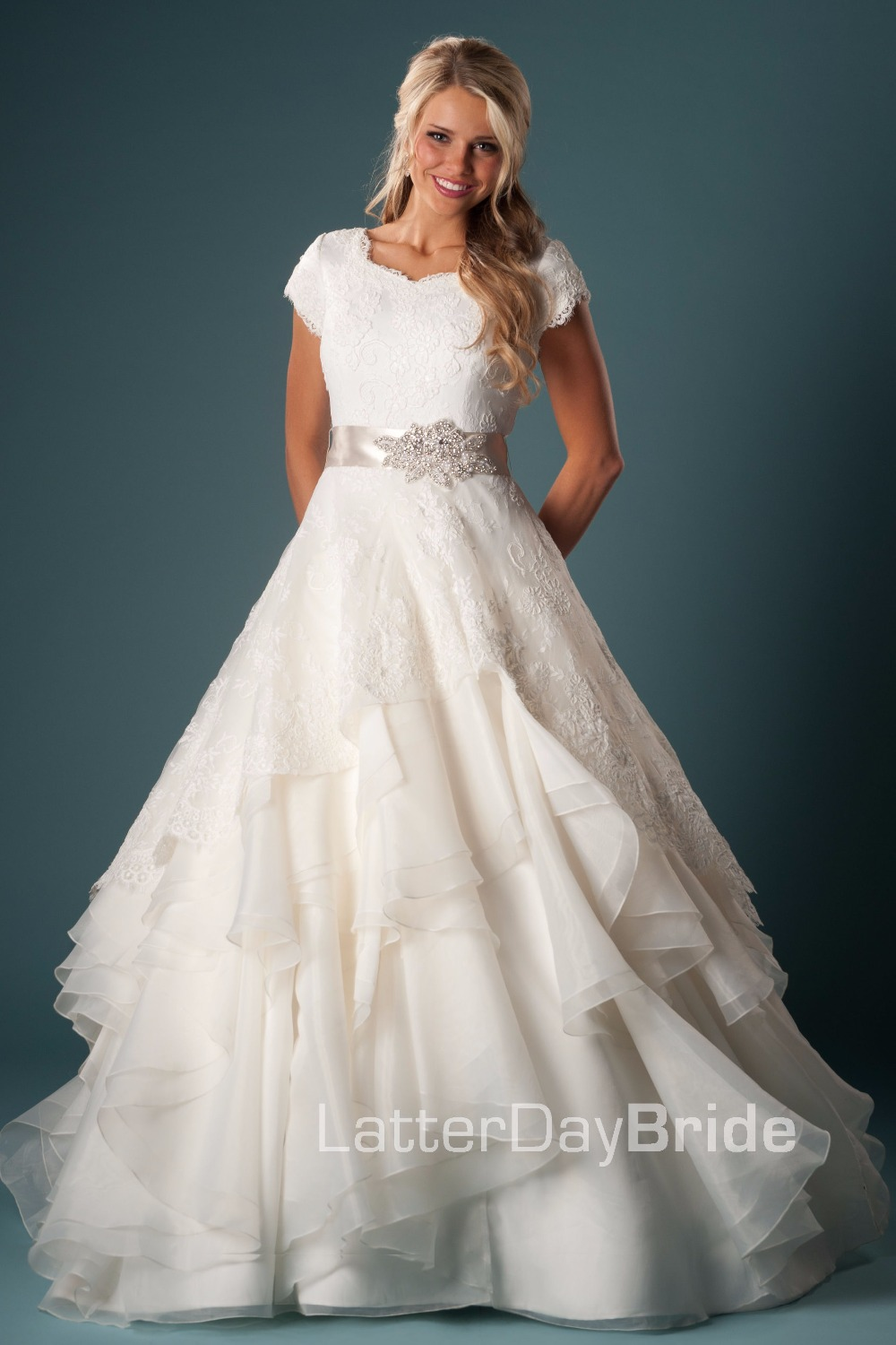 Popular temple dresses buy cheap temple dresses lots from for Modest ball gown wedding dresses
