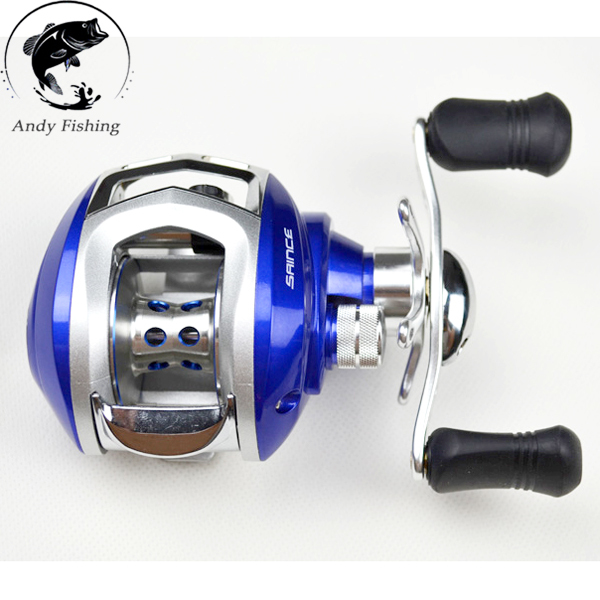 Blue red green Baitcasting Reel 10+1BB 200g Double Brake System Right Hand Bait Casting Fishing Reel(China (Mainland))