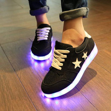 Led Shoes Glowing 7 Colors Men Women Fashion Luminous Led Light UP Shoes for Adults Basket LED Shoes9c03(China (Mainland))