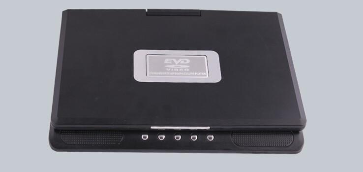 ถูก 9.8นิ้วเครื่องเล่นดีวีดีแบบพกพาที่มี9นิ้วTFT-LCDหน้าจอแสดงผล270หมุนเกมทีวีUSBและSDช่องเสียบการ์ดVCD CD MP3เล่น