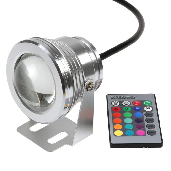 Подводное освещение Sunsbell 10W 12V RGB 1000LM IP65 16colors 24 Remote 10w led underwater light jr 10w rgb 12v 10w 390lm waterproof rgb led light underwater lamp w remote controller 12 24v