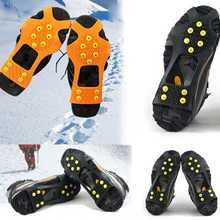 1Pair Free Shipping Unisex Overshoe Snow Ice Grips Spikes Grippers Crampons Studs(China (Mainland))