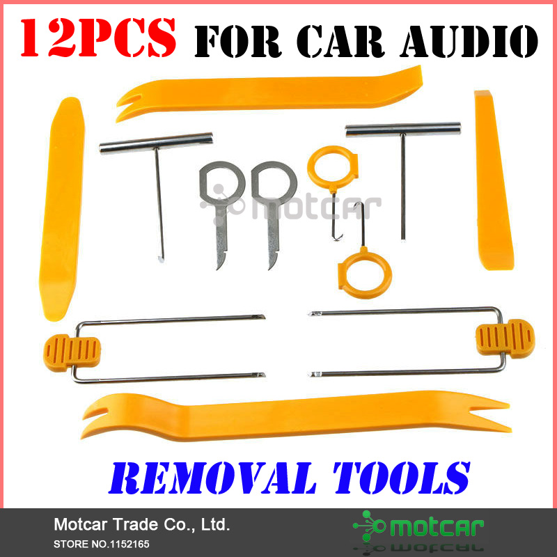 Professional Universal 12Pcs Practical Install Removal Repiar Tool For Car Audio Auto Radio Stereo Trim Molding Removal Tool Kit(China (Mainland))