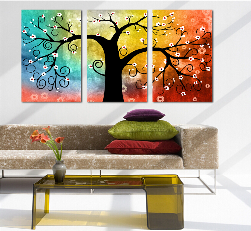 3 Panels Hot Sell The Wide Sea Modern Home Wall Decor Painting Canvas Art Hd Print Painting