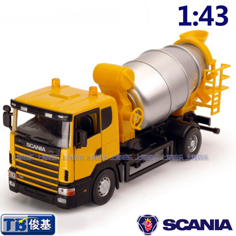 Free shipping 1:43 Cement mixers car truck model toys exquisite(China (Mainland))