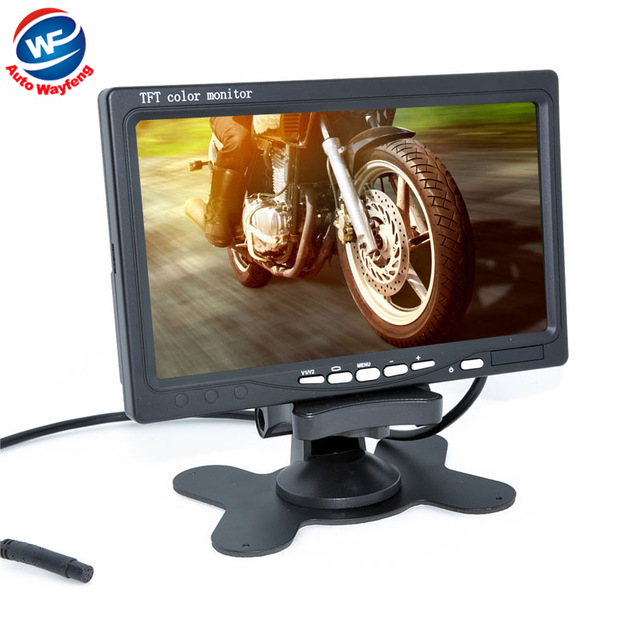 "Factory Selling New Car Monitor 7"" Digital Color TFT 16:9 LCD Car Reverse Monitor with 2 Bracket holder for Rearview Camera DVR(China (Mainland))"