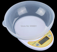 Buy 5kg 1g Portable Digital Kitchen Scale Precision 5KG Electronic Food Parcel Weighing Balance Home Bench Scales Cook Tools &Bowl for $11.82 in AliExpress store