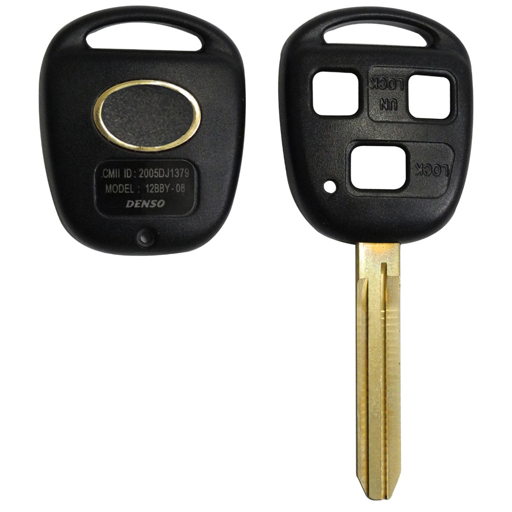 Band New 3 BUTTON REMOTE KEY FOB CASE for TOYOTA FJ/Land Cruiser Camry TOY43 With Logo(China (Mainland))