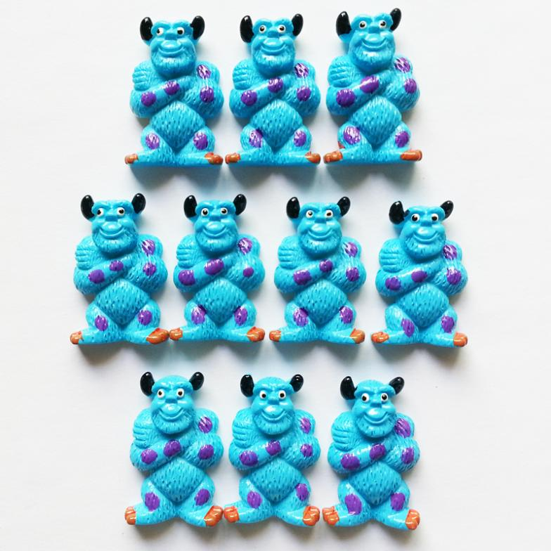 """50pc Mike Wazowski's Friend James P. """"Sulley"""" Sullivan Monster University Resin Flatback for Hair Bow figures for the garden(China (Mainland))"""