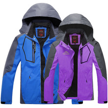New Women men jacket Outdoor jaqueta Camping sport coat for women mountain jackets outerwear waterproof Windproof couples(China (Mainland))