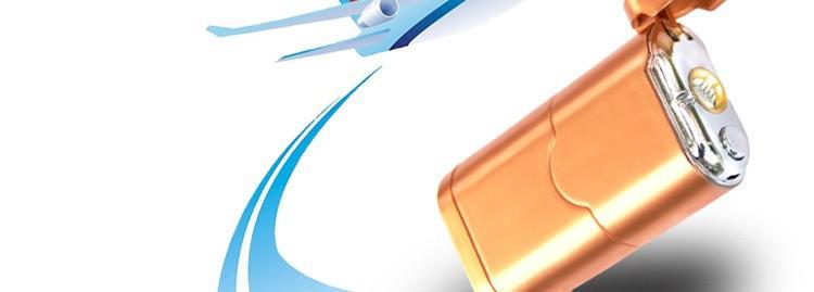 ถูก 1ชิ้นใหม่บุหรี่แบบพกพาusbเบากับธนาคารอำนาจเดินทางฟังก์ชั่นไฟฉายledไฟฟ้าไฟแช็ก