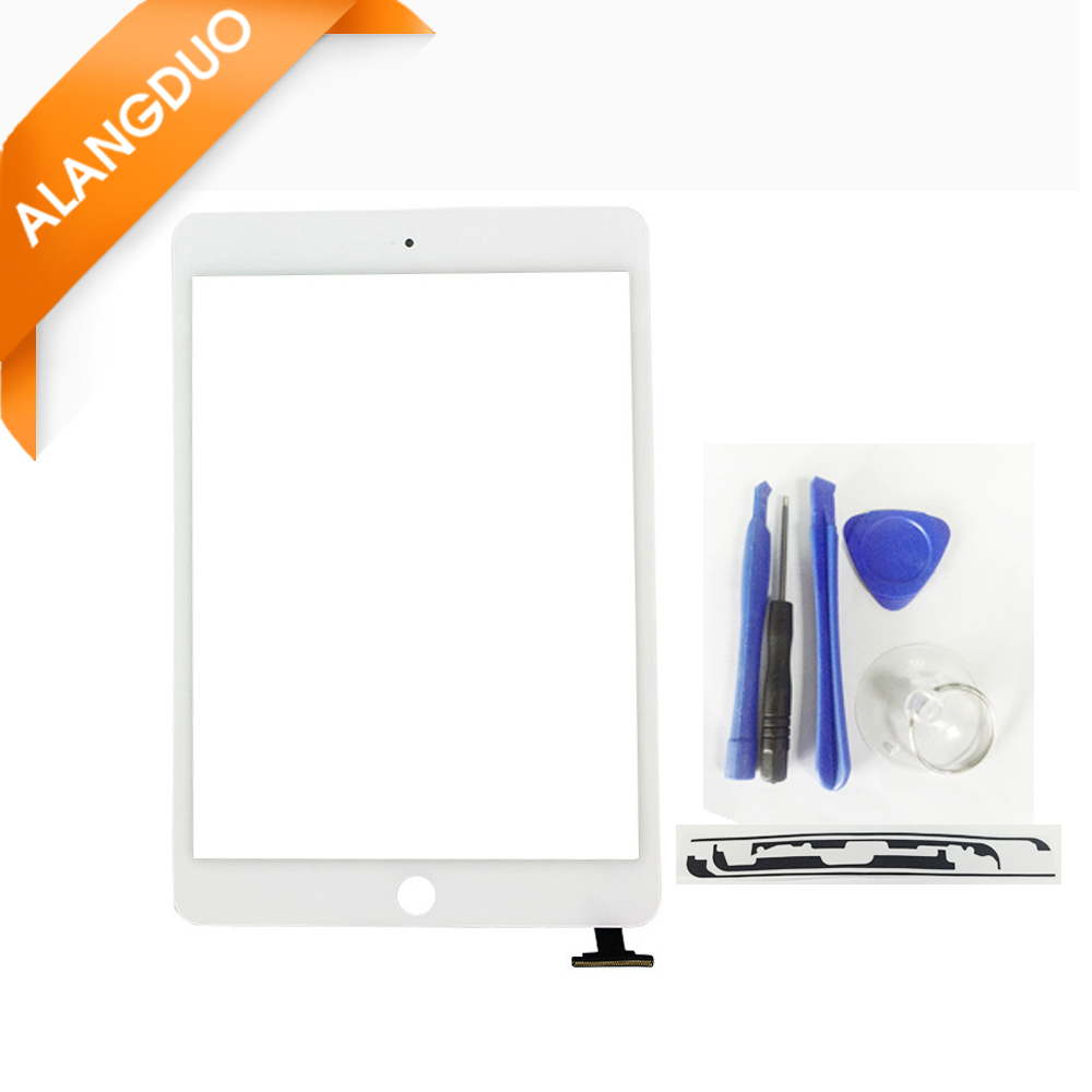 ALANGDUO Tested Tablet Touch Screen for ipad mini 1 2 Digitizer Front Glass Lcd Panel no ic for Apple ipad mini 1 2 Replacement(China (Mainland))