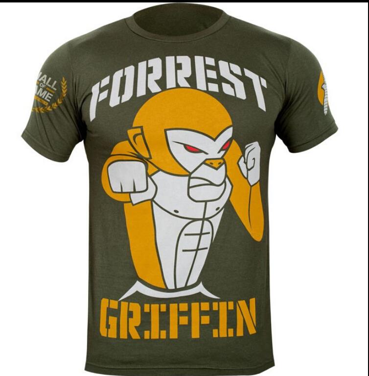 Wholesale MMA boxing fight UFC T-shirt cotton Sport t-shirt Muay Thai T-shirt for men(China (Mainland))