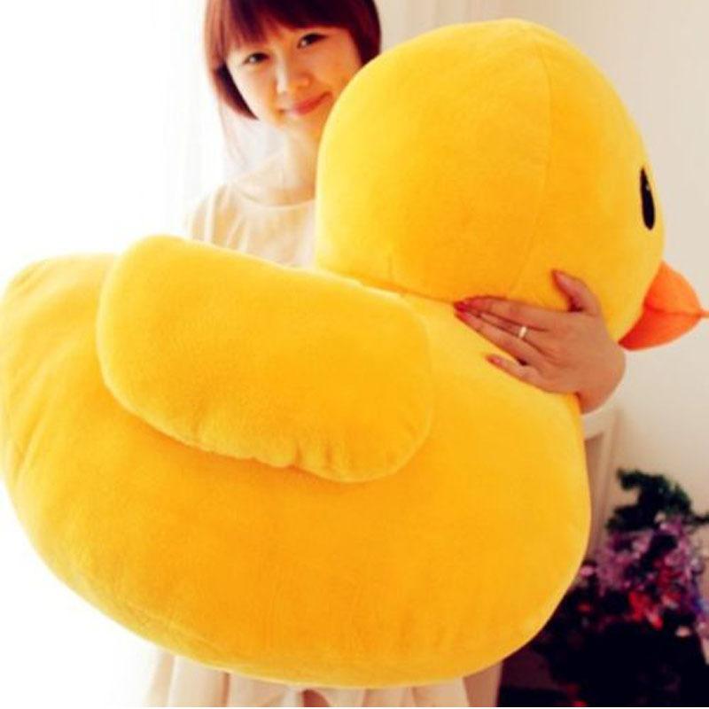 "40cm(15.74"") Giant Yellow Duck Stuffed Cartoon Cushion Animal Plush Soft Toys Cute Nano Doll Pillow Birthday Kids Christmas Gift(China (Mainland))"