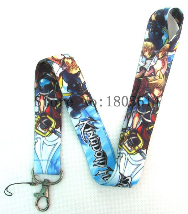 Lot 10pcs Anime Cartoon Kingdom Hearts Designed LANYARD For Key Card ID Chain Neck Straps Party Gifts #I0105(China (Mainland))