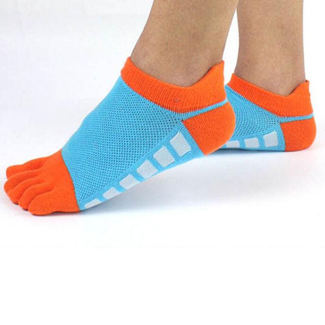 4 цвета новые мужские хлопка носки Спорт Пять пальцев носки Повседневная носки ног ...