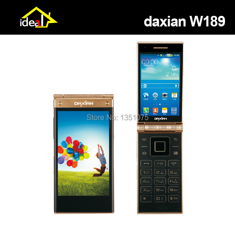 """Hottest Android 4.2&Old Man Mobile phone System Dual OS Flip Cell phone 3.5"""" IPS Dual Screen MTK6572 Dual core WCDMA 5MP(China (Mainland))"""