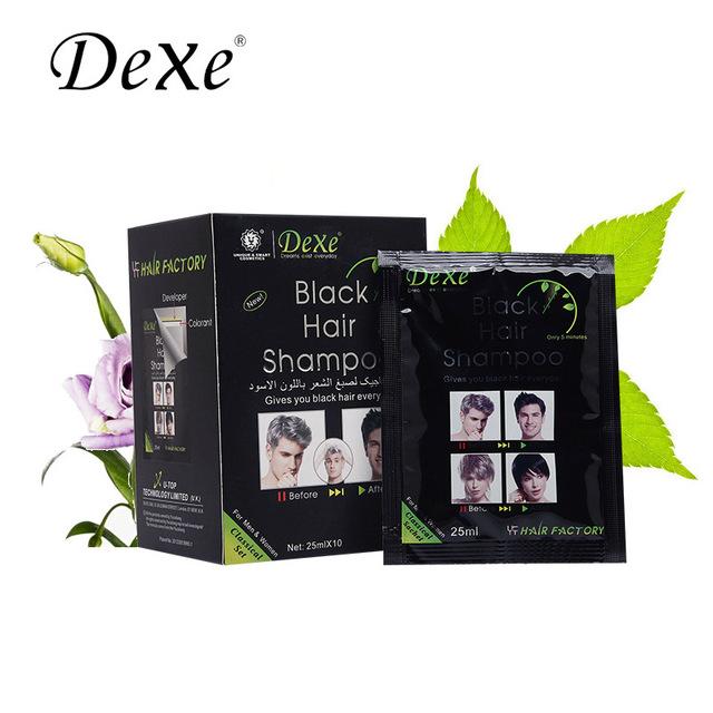 25 мл черные волосы тай-крашения природный простой краска для волос шампунь краска ...
