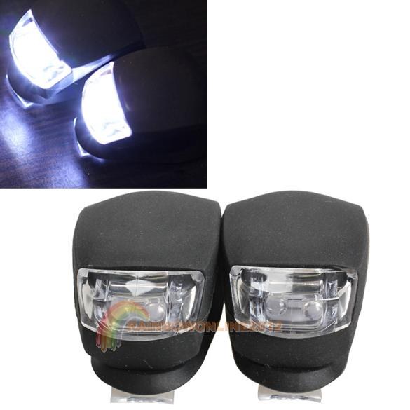 R1B1 Black 2 Pcs LED Bicycle Light Cheap Head Front Rear Wheel Safety Bike Light Lamp(China (Mainland))