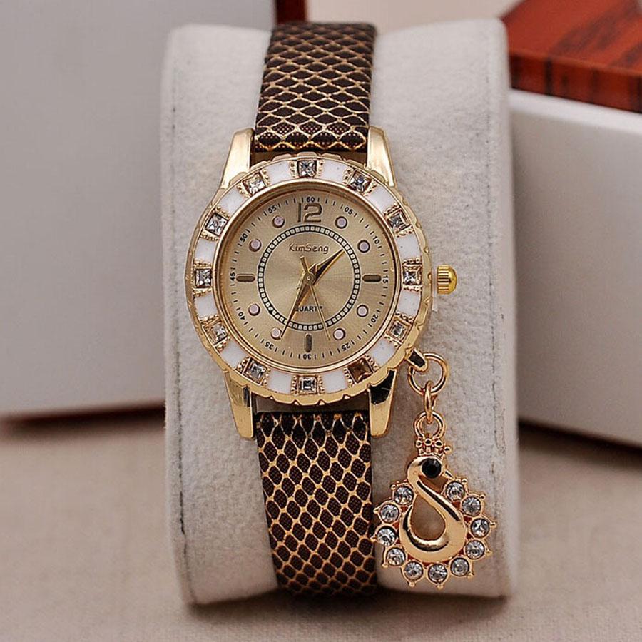 Fashion Diamond Ladies Watch Swan Pendant Snake Straps Quartz Watches 400PCS/lot<br><br>Aliexpress