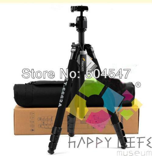 Pro FANCIER FT-6662A Tripod NEW with Ball Head Bag For Camera Canon Nikon Sony etc DSLR Free shipping