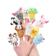 10PCS Lovely Baby Kids Plush Cartoon Doll Cute Animal Finger Puppets Educational Sleep Story Toys Set(China (Mainland))