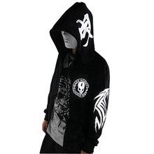 Fashion Hip Hop Hoodie Men Slim Fit Skull Print Fleece Sweatshirts With Big Hoody Assassins Creed Sudaderas Mens Clothing(China (Mainland))