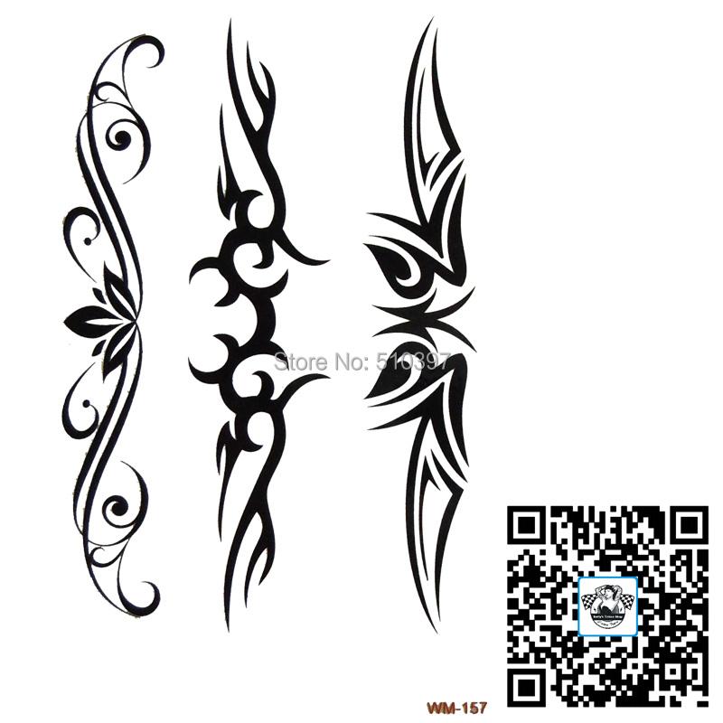 1pc/lot/WM-157,Temporary Totem Tattoo/back,vervel,Lower Back/Flower,Totem,Strip/waterproof transfer tattoo and art on body/CE(China (Mainland))