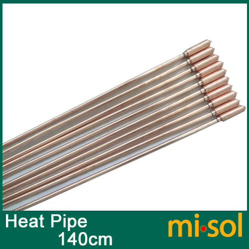 10pcs/lot of copper heat pipe (140cm), for solar water heater, solar hot water heating(China (Mainland))