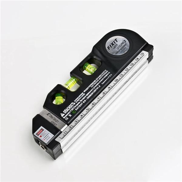 1Pc Multipurpose Level Laser Horizon Vertical Measure Tape Aligner Bubbles Ruler 8FT Newest