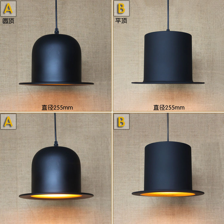 Contracted Contemporary Creative New Popular Hat Chimney Pendant Lamp Clothing Store Bar Decoration Light D225MM Free Shipping(China (Mainland))