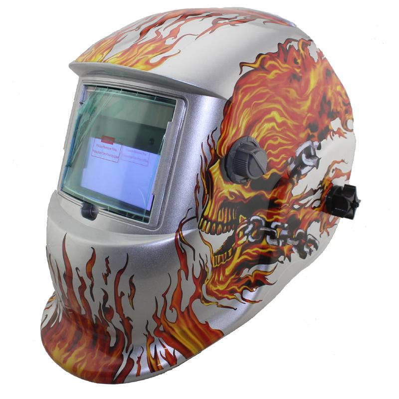 White Skull Solar auto darkening TIG MIG MMA electric welding mask/helmet/welder cap/lens for welding machine OR plasma cutter(China (Mainland))