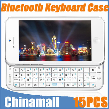 Free Express 15pcs/lot High Quality Ultra thin Portable Bluetooth Wireless Mini Keyboard Slide Case Back Covers For Iphone 5 5G