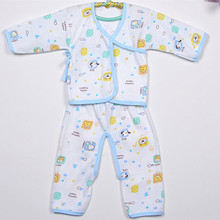 Baby Sleepers New Arrival Neonatal Printed Underwear Soft Cotton Sleep Sets Long Sleeve Autumn and Winter Pajamas(China (Mainland))