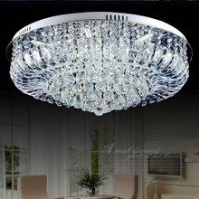 Modern K9 crystal chandelier ceiling lustres de cristal luminaras para sala home deco lighting fixture for living room(China (Mainland))