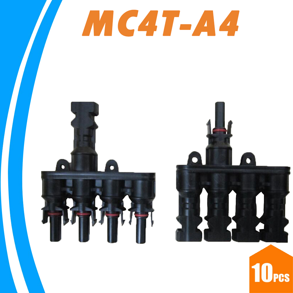 10 Pairs M/FM Solar Panel MC4 4 to 1 T Branch 30A Solar Connector Female and Male MC4T-A4 Solar PV Cable 2.5mm2~ 6.0mm2 IP67<br><br>Aliexpress