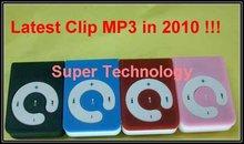 4pcs /lot,2GB memory 100% new Mini clip MP3 player alloy case mp3(China (Mainland))