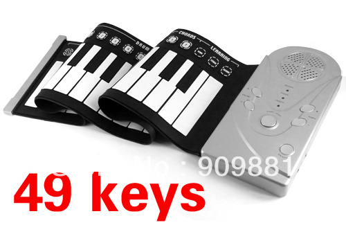 Brand NEW Portable 49 Keys Roll Up Electronic Flexible Foldable Keyboard Piano Soft Hand Music Organ(China (Mainland))