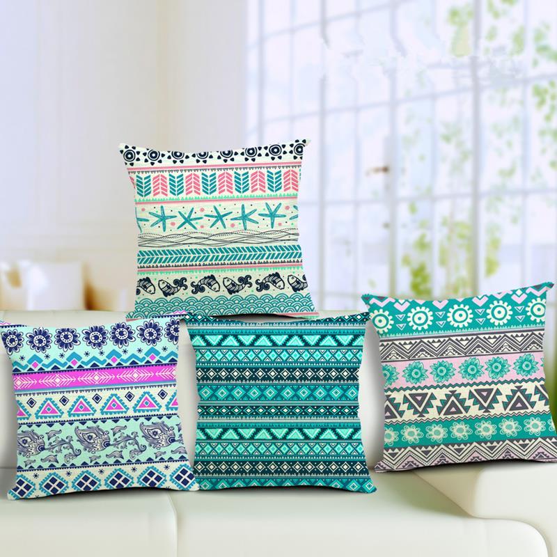 4545cm Bohemian Cushion Cotton Linen Cushions Home Decor