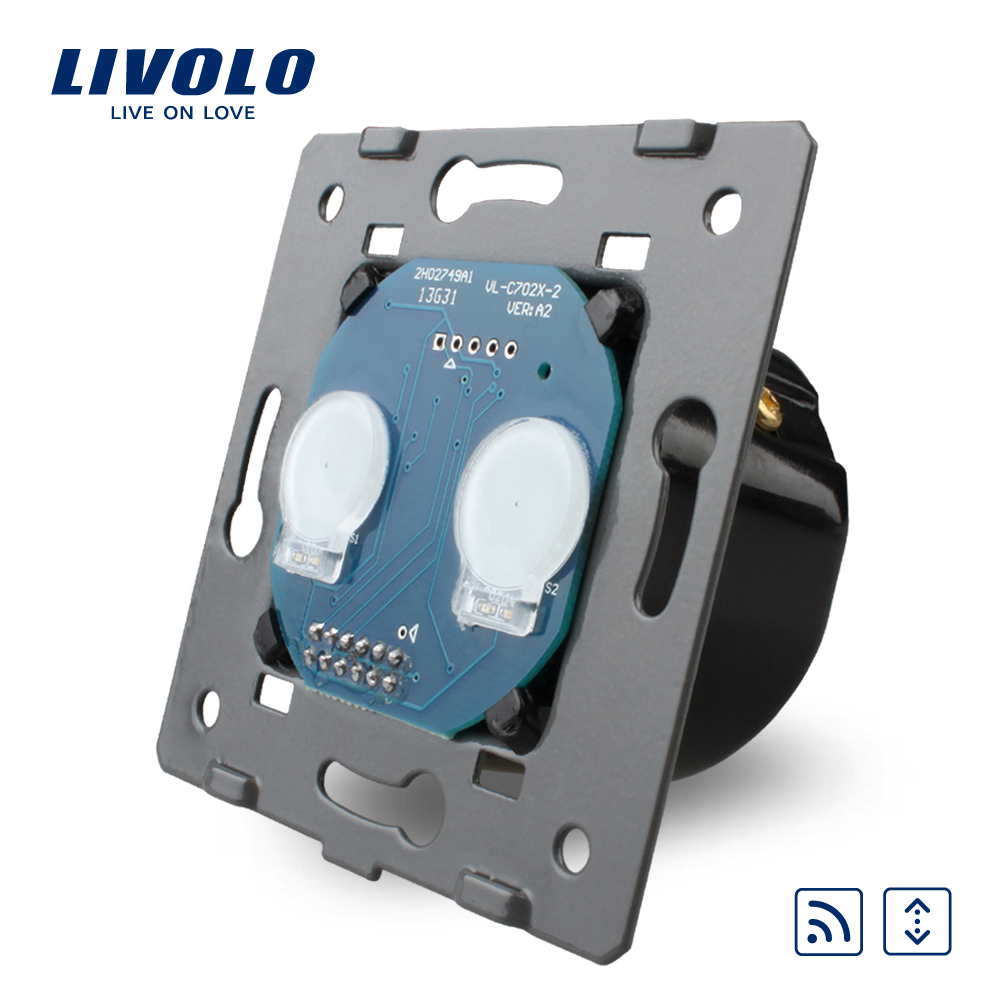 FREE Shipping, Livolo Manufacturer, EU Standard, The Base Of Touch House Home Led Remote Curtains Switch, VL-C702WR(China (Mainland))