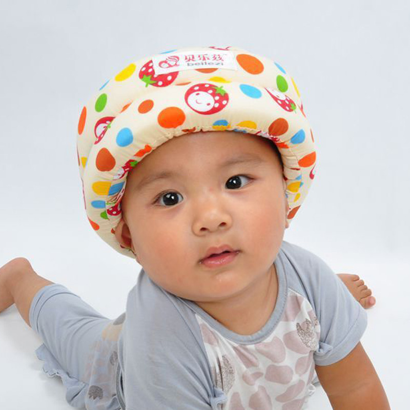soft comfortable Security Protection Adjustable Kids Walk Learning Baby toddler cap anti-collision protective hat safety helmet(China (Mainland))