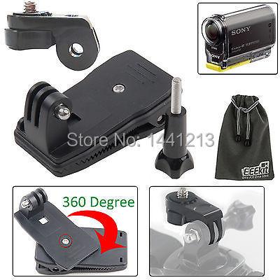 S@ny Action Cam 360 Degree Bag Strap Quick Release Clip Clamp Mount HDR-AS20/AS30V/AS100V/AS200V/AZ1 Mini/FDR-X1000V/W 4K Cam(China (Mainland))