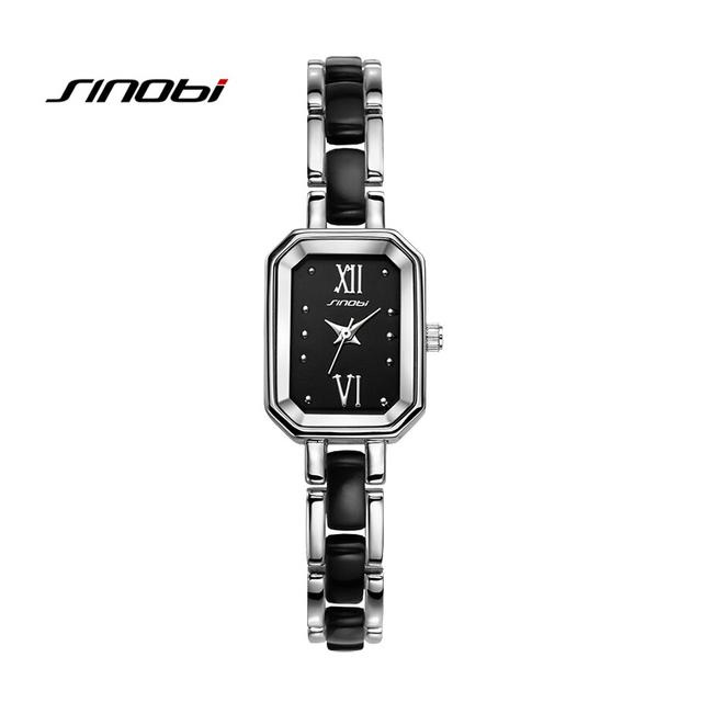 Sinobi Regtangle циферблат аналоговый кварцевые часы женская мода дамы браслет девушки наручные часы подарок relojes feminino новый