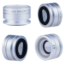 Free Shipping 20X Zoom Macro lens Cellphone lens Camera Lens for iPhone 5 5s 6 for Samsung Galaxy S Cellphone Microscope lens