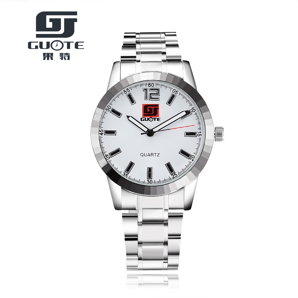 2016 New Fashion Hot Quartz Watches Men Luxury Brand Three Colors Watch Casual Style Clock Full Steel - Shine Factory store